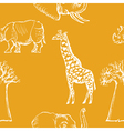 seamless background with African animals vector image vector image