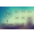 Set of gift cards icons vector image