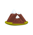 snowy mountains element of a landscape vector image vector image