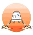 Space module landing on Mars