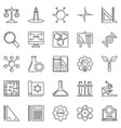 stem outline icons set science concept vector image