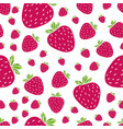 summer pattern with strawberries vector image vector image