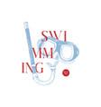 swimming school logo vector image