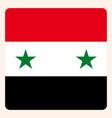 syria square flag button social media vector image