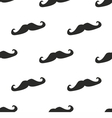 Tile pattern black mustache on white background vector image vector image