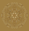 vintage ornament in luxurious gold design circle vector image vector image