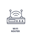 wi-fi router line icon concept wi-fi router vector image vector image