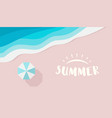 wide summer poster template with text or logo vector image