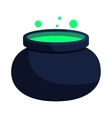 Witch cauldron with green potion icon vector image vector image