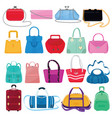 woman bag girls handbag or purse and vector image vector image