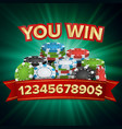 you win winner background jackpot vector image vector image