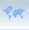 blue detailed worldmap isolated on white blue vector image