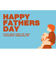 Happy fathers day cardBlue and orange tone vector image