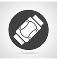 Sports protection black round icon vector image