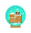 christmas magic ball vector image