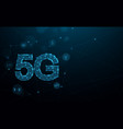 5g new generation networks high-speed internet vector image vector image