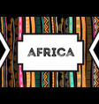 african background flyer with tribal traditional vector image
