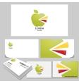 Apple Logo realistic branding mock up vector image