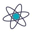 atom science symbol blue lines vector image
