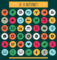 big ui and internet icon set trendy flat icons vector image