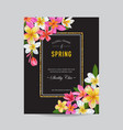 blooming spring and summer floral frame vector image vector image