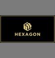 br hexagon logo vector image vector image
