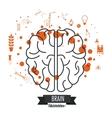 Brain design Mind icon Colorful vector image vector image