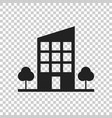 building with trees icon business vector image vector image