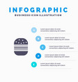 burger fast food fast food infographics vector image vector image