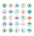 Camping icons set Silhouette vector image
