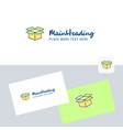 carton logotype with business card template vector image vector image