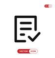 check form icon vector image vector image