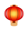 Chinese lantern isolated on white vector image