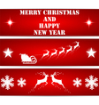 Christmas bookmarks vector image