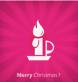 Christmas candle christmas icon vector image