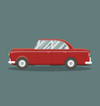 classic red car vector image vector image