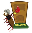 cockroach leaving vector image vector image