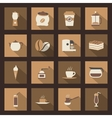 Coffe flat icons set vector image vector image