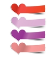 collection heart sticky notes transparent shadows vector image
