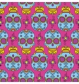Colored skul pattern vector image
