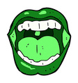 comic cartoon halloween mouth vector image vector image