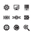computer electronic technology - black web icon vector image vector image