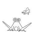 cute frog cartoon isolated on white vector image