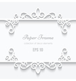 Cutout paper frame vector image vector image