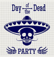 day of dead sketch poster design vector image