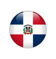 dominican republic flag on button vector image vector image