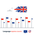 English language courses advertising concept vector image vector image