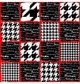 Fashion background with houndstooth pattern vector image vector image