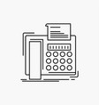 fax message telephone telefax communication line vector image vector image