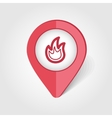 Fire map pin icon vector image vector image